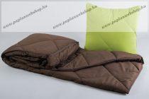 ROAD Utazó paplan-párna garnitúra, barna (130x180 + 40x40 cm) - Naturtex