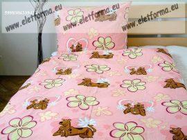 Scooby-Doo, rózsaszín, 2 részes ágyneműhuzat -Naturtex (100% pamut)