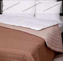 Naturtex ágytakaró, Laura barna-drapp, 235x250 cm