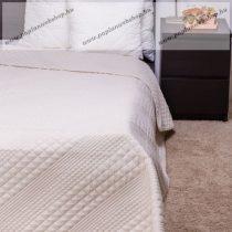 Naturtex ágytakaró, CLARA bézs microfiber kockás steppeléssel, 235x250 cm