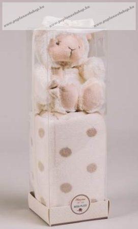 Baby plüss pléd Barikával, díszdobozban, 75x100 cm - Naturtex