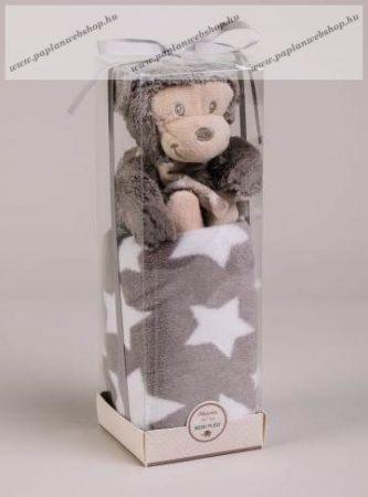 Baby plüss pléd Majmocskával, díszdobozban, 75x100 cm - Naturtex