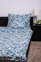 Naturtex Kék leveles pamut ágyneműhuzat, 3 részes