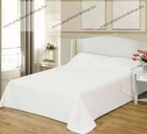 Naturtex ágytakaró, CLARA fehér microfiber csíkos steppeléssel, 235x250 cm