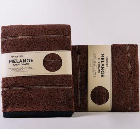 Naturtex Melange törölközö, Chocolate, 70x140 cm (550 g/m2)