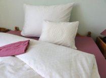 Elegancia Bézs pamut-szatén ágyneműhuzat, 3 részes
