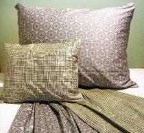 Elegancia kockás pamut-szatén ágyneműhuzat, 5 részes (kétszemélyes)
