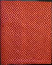 Billerbeck Bianka Narancs Labirintus pamut (maco-satin) kispárnahuzat, 36x48 cm