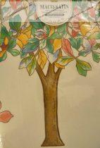 Billerbeck Elegante Őszi fa pamut (maco-satin) nagypárna huzat, 80x80 cm