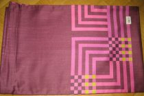 Billerbeck Elegante Pink kockás pamut (maco-satin) nagypárna huzat, 80x80 cm