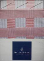 Billerbeck Bianka Piros kockás pamut-szatén ágyneműhuzat, 3 részes