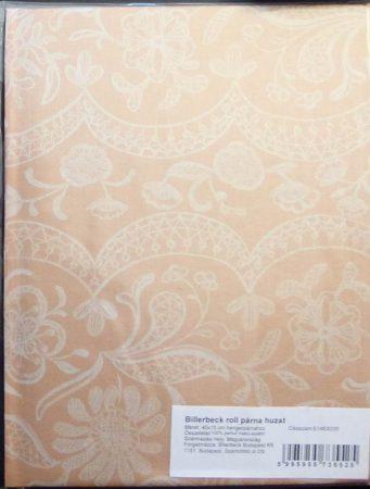 Billerbeck Bianka Jacquard sárga pamut (maco-satin) félpárnahuzat, 50x70 cm