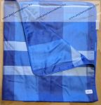 Billerbeck Elegante Kék szegélyes pamut (maco-satin) nagypárna huzat, 80x80 cm