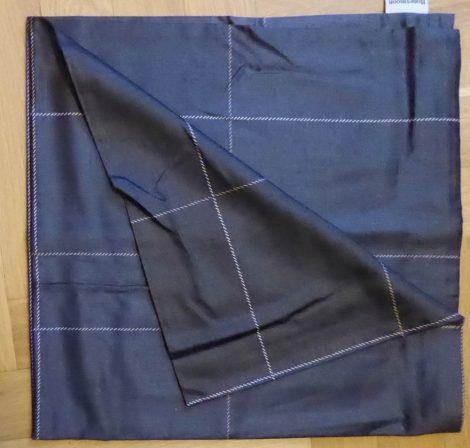 Billerbeck Elegante Fekete-fekete osztott pamut (maco-satin) nagypárna huzat, 80x80 cm