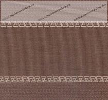 Billerbeck Bianka Barna Labirintus pamut (maco-satin) kispárnahuzat, 36x48 cm