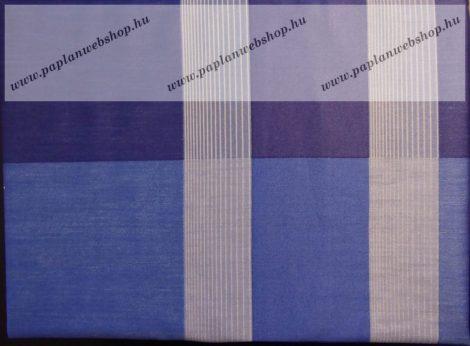 Billerbeck Bianka Kék-kék kockás pamut (maco-satin) félpárnahuzat, 50x70 cm