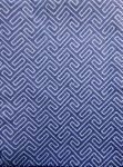 Billerbeck Bianka Labirintus kék pamut (maco-satin) félpárnahuzat, 50x70 cm