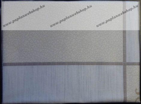 Billerbeck Bianka Bézs-szürke kockás pamut (maco-satin) félpárnahuzat, 50x70 cm