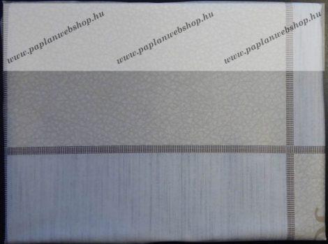 Billerbeck Bianka Bézs-szürke kockás pamut (maco-satin) kispárnahuzat, 36x48 cm