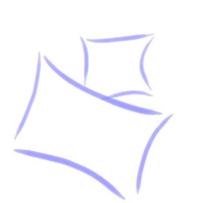 Billerbeck Bianka Kék kavicsos pamut (maco-satin) kispárnahuzat, 36x48 cm