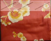 Billerbeck Bianka Piros virágos pamut (maco-satin) kispárnahuzat, 36x48 cm
