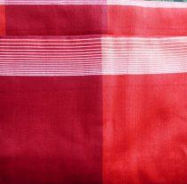 Billerbeck Bianka Piros-bordó kockás pamut (maco-satin) kispárnahuzat, 36x48 cm