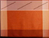 Billerbeck Bianka Piros-bordó kockás pamut (maco-satin) félpárnahuzat, 50x70 cm