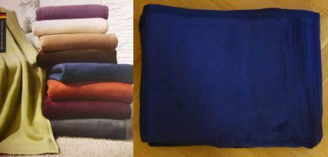 Biederlack Top Cotton kék pamut pléd, 150x200 cm