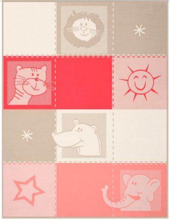 Biederlack Lovely & Sweet Zoo pamut pléd, 75x100 cm