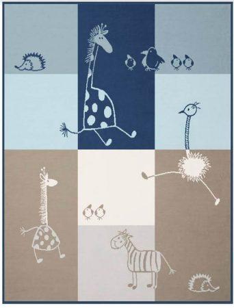 Biederlack Lovely & Sweet Comic pamut pléd, 75x100 cm