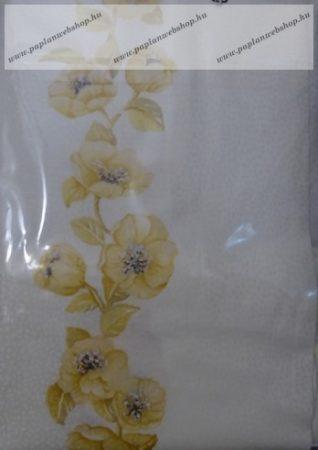 Billerbeck Bianka Natur virágos pamut (maco-satin) kispárnahuzat, 36x48 cm