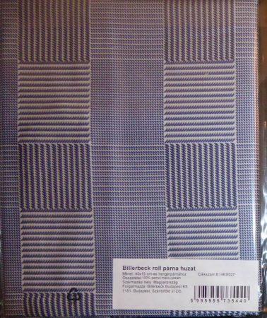 Billerbeck Bianka Kék kockás pamut (maco-satin) kispárnahuzat, 36x48 cm