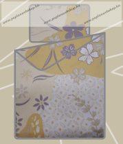 Billerbeck Bianka Sárga virágos pamut-szatén ágyneműhuzat, 3 részes