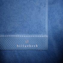 Billerbeck Sötétkék rizskötésű törölköző, 50x100 cm - Billerbeck
