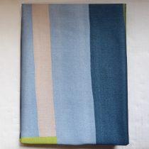 Billerbeck Bianka Csíkos-kockás, kék-zöld-barna pamut (maco-satin) félpárnahuzat, 50x70 cm