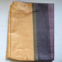 Billerbeck Bianka Csíkos-kockás, barma-bordó-szürke pamut (maco-satin) kispárnahuzat, 36x48 cm