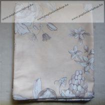 Billerbeck Bianka Virágos, barack pamut (maco-satin) kispárnahuzat, 36x48 cm