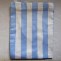 Billerbeck Bianka Csíkos, kék-fehér széles csíkos pamut (maco-satin) kispárnahuzat, 36x48 cm