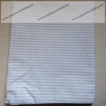 Billerbeck Bianka Kék-fehér vékony csíkos pamut (maco-satin) kispárnahuzat, 36x48 cm