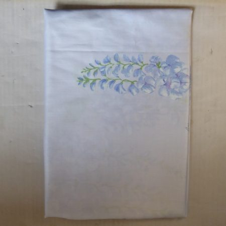 Billerbeck Bianka Virágos pamut (maco-satin) félpárnahuzat, 50x70 cm