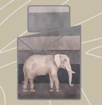 Billerbeck Bianka 3 részes pamut-szatén ágyneműhuzat, Elefánt