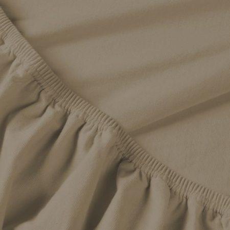 Billerbeck REBEKA elasztános gumis lepedő, Kapucíner, 90-100x200 cm (180 g/nm)