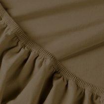 Billerbeck REBEKA elasztános gumis lepedő, brownie, 90-100x200 cm (180 g/nm)
