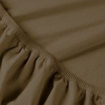 Billerbeck REBEKA elasztános gumis lepedő, brownie, 140-160x200 cm (180 g/nm)
