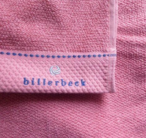 Billerbeck rizskötésű törölköző, Mályva, 70x140 cm - Billerbeck