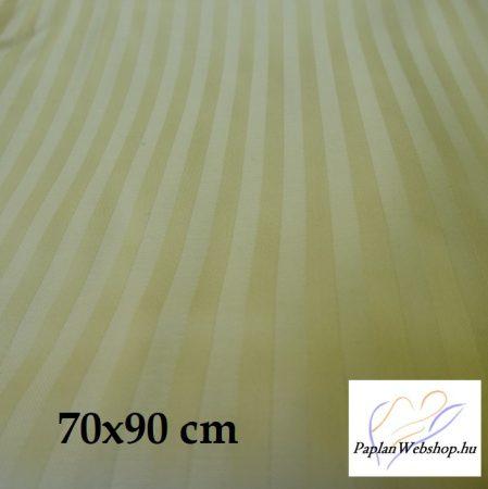 Billerbeck Réka pamut-szatén nagypárnahuzat, sárga, 70x90 cm