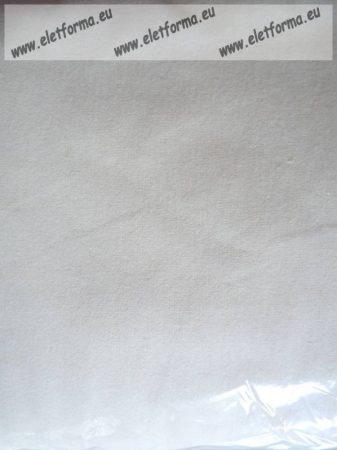 Egyszínű bujtatós/áthajtós pamut kispárnahuzat, fehér, 40x50 cm