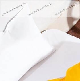 Fehér gombos pamut paplanhuzat, 140x200 cm