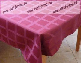 Damaszt Asztalterítő, 140x160 cm, Bordó
