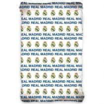 Real Madrid gumis lepedő, 90x200x25cm, Kék-fehér (171011)